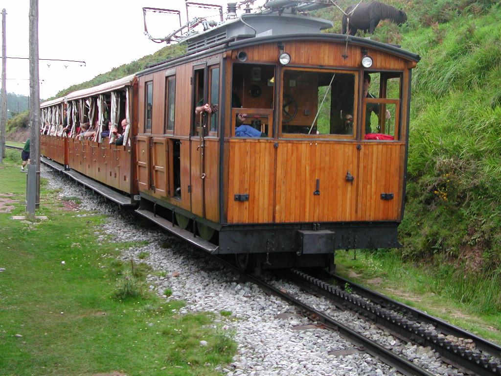 wooden train: