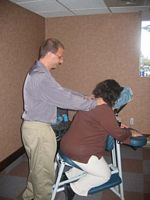 Chris Simon, CCMP Certified Chair Massage Practitioner
